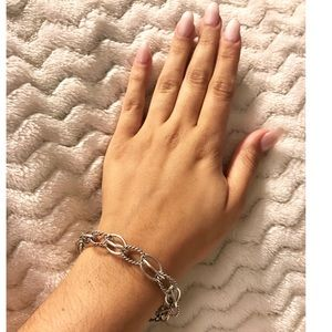 Silver Loop Bracelet with Magnetic Clasp